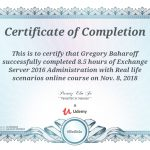 Udemy Exchange Server 2016 Administration with Real Life Scenarios Certification UC-392D0BC9