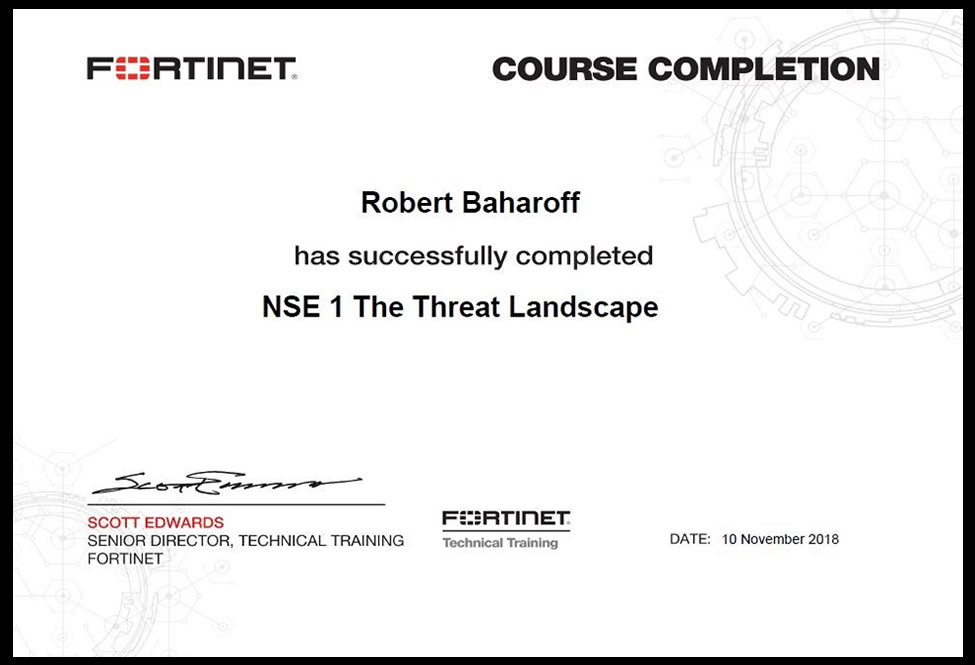 Fortinet Network Security Engineer (NSE1) Certification