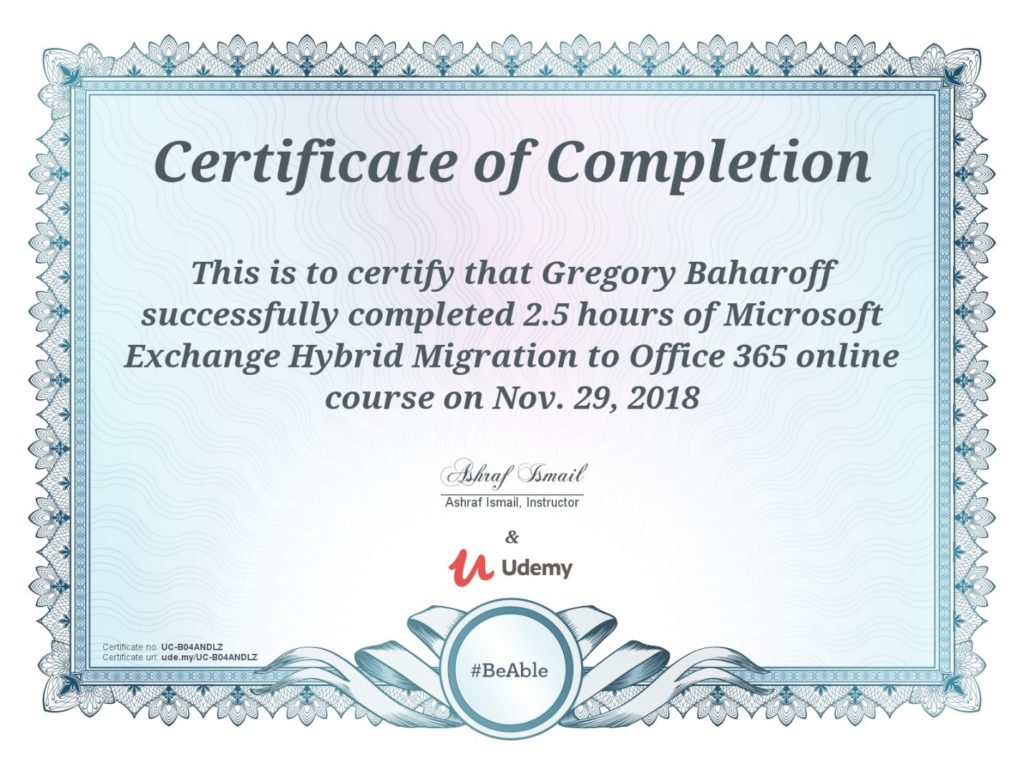 Microsoft Exchange Hybrid Migration To Office 365 Certification