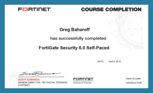 Fortinet FortiGate Security Certification